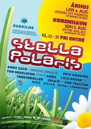 Stella Polaris kaster sig i græsset